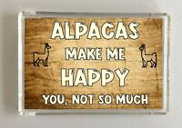 Alpaca Gift - Novelty Fridge Magnet - Makes Me Happy -Ideal Present For Birthday