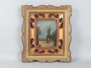 Antique Frame Venetian Baroque Wooden Figure Flemish Community Painted Of Xx Sec