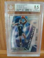 2019 PRIZM SILVER INSTANT IMPACT REFRACTOR ZION WILLIAMSON ROOKIE RC #2 BGS 8.5