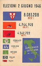 C5180) DEMOCRAZIA CRISTIANA ELEZIONI POLITICHE 2 /6/1946, RISULTATI ELETTORALI.