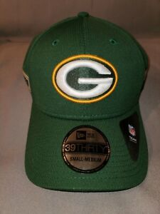 NFL GREEN BAY PACKERS NEW ERA 39 THIRTY COACH GREEN SM/MED STRETCH FIT MENS HAT