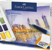 Faber-Castell Aquarellfarben in Näpfchen 24er Etui