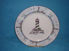 Lighthouse by Home Trends Salad Plate HTS21 Lighthouse in Center and on Rim