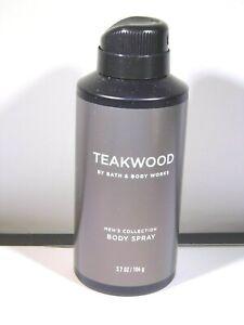 Bath Body Works Men's Collection TEAKWOOD Body Spray Mist 3.7 Oz NEW Full Size