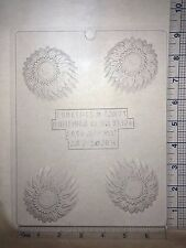 SUNFLOWER COOKIE MOLD CLEAR PLASTIC CHOCOLATE CANDY MOLD AO275