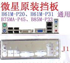 Original MSI IO I/O Shield backplate for H61M-P31 H61M-P20 B75MA-P45 #T4243 YS