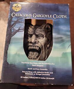 Gargoyle Catacomb Cloth Dungeon Halloween Wall Hanging Indoor Outdoor Spirit 3D