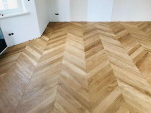 16in French Chevron parquet flooring Engineered Oak Prime waxoiled 200sqm stock