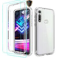 For Motorola Moto G Fast Case Clear Slim Thin TPU Phone Cover /Screen Protector