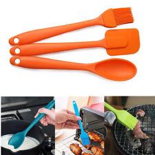 3Pcs Silicones Spatula Scraper Srush Spoon Cooking Tool Baking Kit KItchen Tools