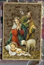 """Nativity of Holy Family Foil Mosaic Plaque (4"""" x 6"""")"""