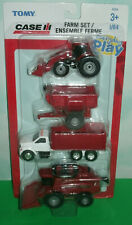 1/64 Scale Case IH Farm Play Set (Tractor/Wagon/Truck/Combine Harvester) Tomy