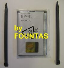 OEM BP-4L Battery and two stylus from Nokia N810 tablet