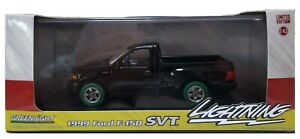 Green Machine 86085 1999 Ford F-150 SVT Lightning - Black 1/43  Greenlight CHASE
