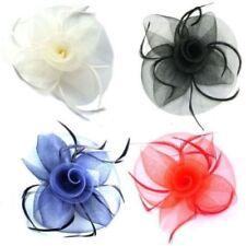 Accesorios pasadores de plumas para cabello de mujer
