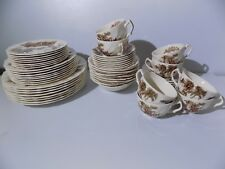 """48 Pcs. Vintage 1960's Johnson Brothers """"The Old Mill"""" China"""