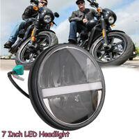 """7"""" Schwarz Frontscheinwerfer  High/Low LED Projektor für Harley Honda"""