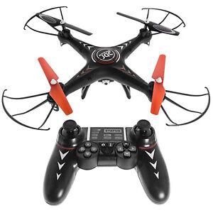 Jamara WIFI Drohne mit Kamera HD 360° Drehung Quadrocopter 40 Km/h LED 4GB