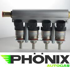 Hana Gold Autogas 4er Rail Alu inkl. Injektoren 4 Zylinder KME LPG