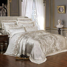 2020 Luxury satin jacquard suit large embroidered quilt cover pillowcase sheets