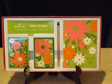 NIB Hallmark Bridge Ensemble  Floral 2 Decks Pencil Score Pad