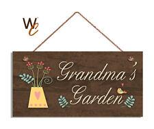 GRANDMA'S GARDEN Sign, Gift For Grandma, 5x10 Wood Sign, Grandparent Gift