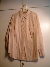 ULLA POPKEN Damen - Bluse in Hemdform, beige-weißes Karo - Muster Maße s. Text