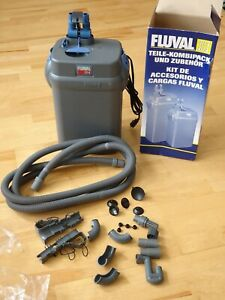New Fluval 304 External Canister Filter for Tanks up to 70 Gallons w/hoses