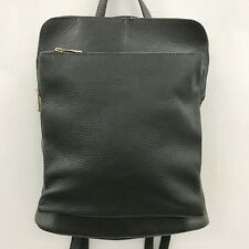 New Bagitali Black Backpack Leather Medium Womens Work 291049