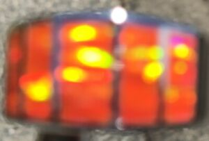 Orange fire Opal leaps of flames Sterling silver 925 Men's Ring prototype 9 S