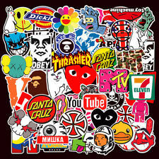 101PCS Stickers Bomb Vinyl Skateboard Guitar Luggage Pack Tide Brand Logo Decals