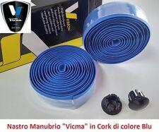 """840AZ Nastro Manubrio """"Vicma"""" in Cork colore Blu per bici 26-28 Corsa - Pista"""