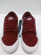 26fed22ed64a5e New Vans Mens 7M Chukka Low Pro Rubber Red Dahlia White Suede Sneakers