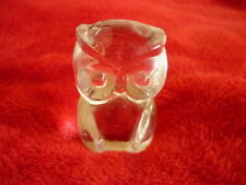 CHOUETTE HIBOU CRISTAL TBE GERMANY BLEIKRISTALL CRYSTAL OWL GOOD CONDITION