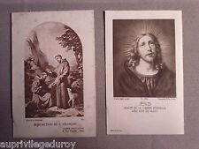 Images pieuses anciennes : Bénédiction de St François - Jésus, beauté...