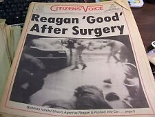 CITIZENS VOICE - MARCH 31ST 1981 - REAGAN GOOD AFTER SURGERY  - COMPLETE