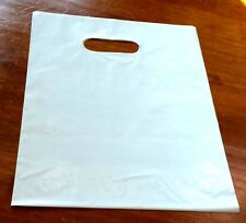 "100 White Low-Density Plastic Shopping Merchandise Bags 9"" x 12"" FREE SHIPPING"