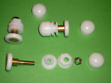 White Shower Door Rollers, Wheels, Runners. 4 x SR38b