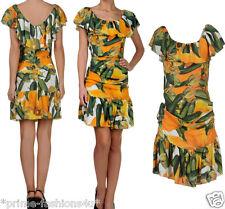 Dolce & Gabbana Silk Blend Floral Print Sleeveless  Pleated Dress