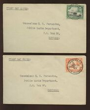 KUT KG6 1949 PICTORIAL 5c + 10c FIRST DAY ISSUE MOMBASA RESTANTE PMK 2 COVERS L2