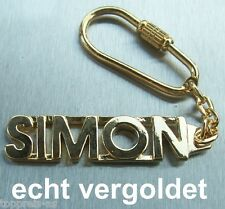 Schlüsselanhänger Edler SchlÜsselanhÄnger Romain Vergoldet Gold Name Keychain Weihnachtsgeschenk Uhren & Schmuck