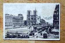Antique 1910 1920s Paris France Photo Postcard Post Card Vintage