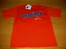 NEW WT MLB ST LOUIS CARDINALS RED T-SHIRT YOUTH BOYS 14/16 L MAJESTIC COTTON