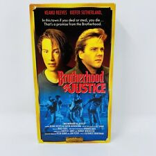 The Brotherhood of Justice vintage 80s action crime drama vhs movie Keanu Reeves