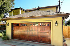 Noel Design - [9' x 7'] Spanish Style Custom Solid Cedar Wood Garage Door