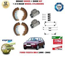 FOR FORD FIESTA MK4 + 1.6 16V SPORT 1995-2002 REAR BRAKE SHOES + CYLINDERS + KIT