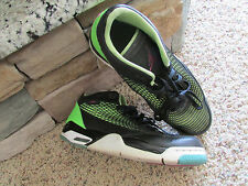 NIKE AIR JORDAN FLIGHT CLUB 80'S SNEAKERS SHOES MENS 11.5 BLACK LIME 599583