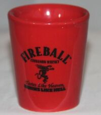 Fireball Cinnamon Whiskey red with 'L' on back Souvenir Glass Shot Glass  M486