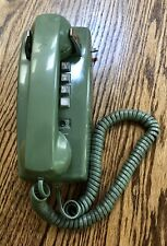 Vintage 2554 Olive Green Western Electric Wall Telephone TT Wall Phone CLEAN, VG