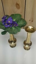 """8-3/4"""" Tall~Vintage Solid Brass Vase Made in India~Nice~Quality!"""